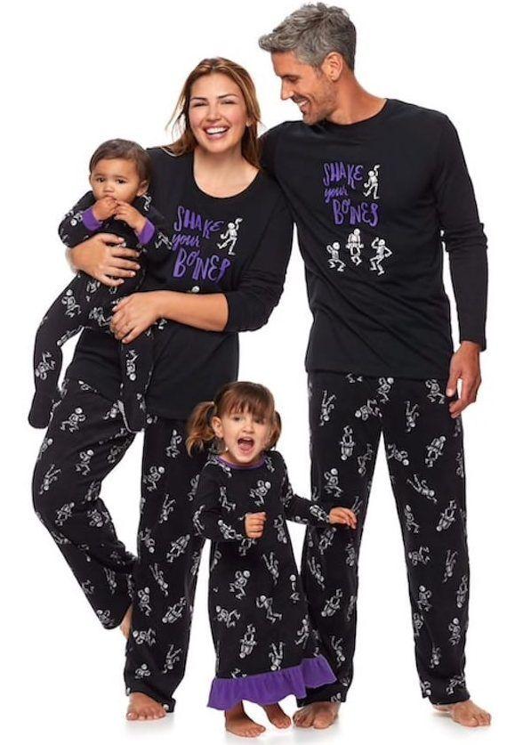 ba3463bbaa70 Halloween Matching Family Skeleton Pajamas