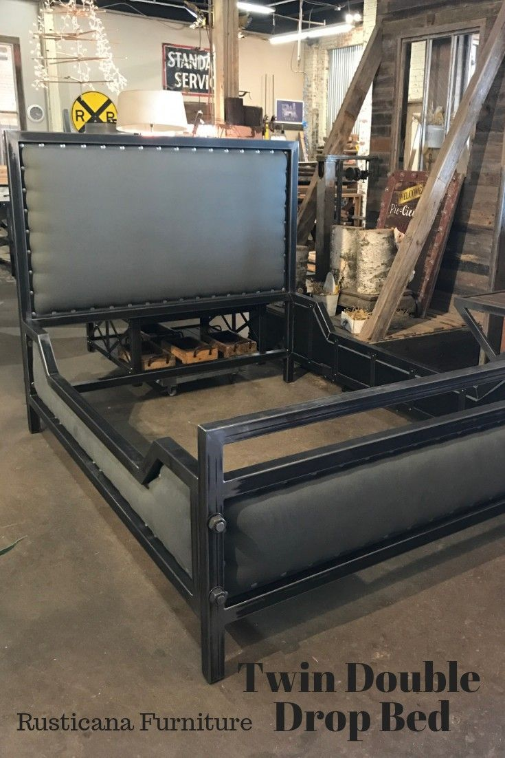 Double Drop Welded Steel Bed This Frame Has 8 1 Bolts To Assemble It The Frame Can Be I Metallicheskie Krovati Mebel Iz Stali Vintazhnyj Industrialnyj Stil