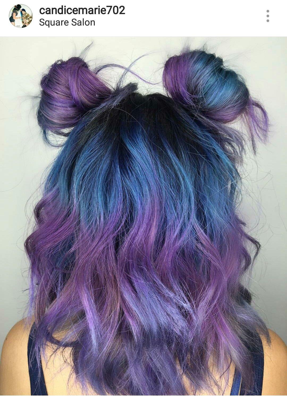 Dyedhair Haircolor Hairinspiration Hairstyle Mermaidhair