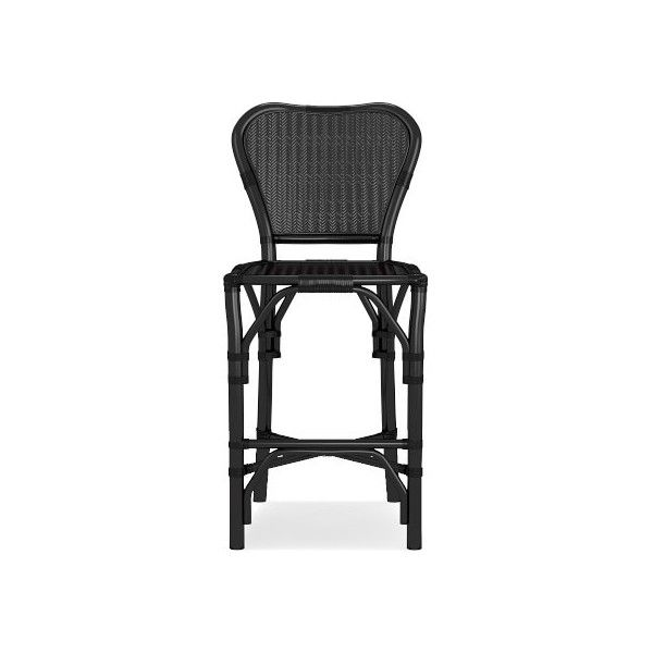 Williams-Sonoma Buchanan Counter Stool (£245) ❤ liked on Polyvore featuring home, furniture, stools, barstools, espresso color furniture, dark brown furniture, cafe furniture, hand made furniture and dark brown stool