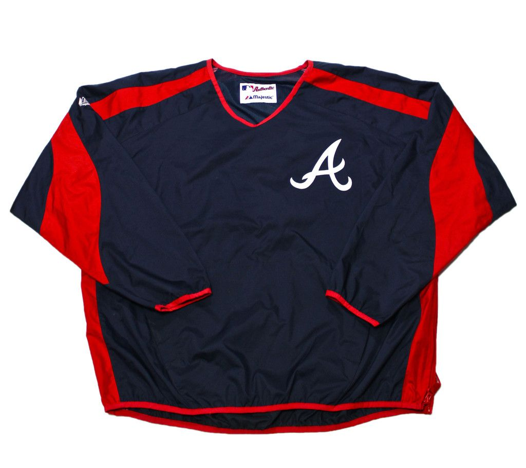 Vintage Majestic Atlanta Braves Mlb Windbreaker Jacket Mens Size Xl 40 00 Windbreaker Jacket Mens Mlb Jackets Windbreaker Jacket