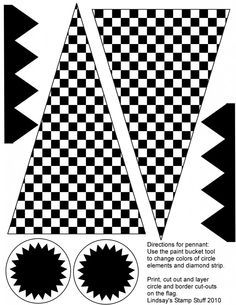 Free Checkered Flag Printables More With Images Monster