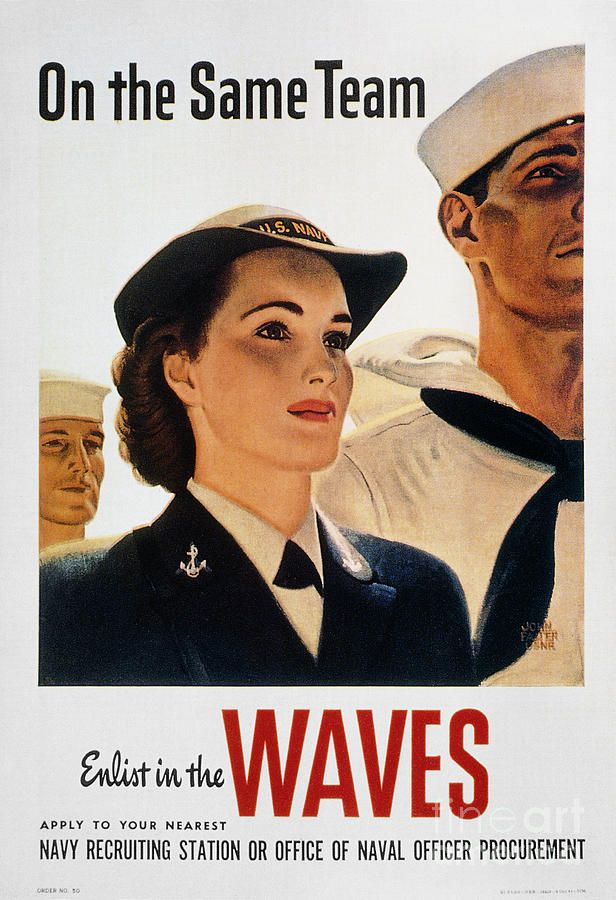 WWII: Waves Poster Giclee Print | Women in the DOD | Vintage