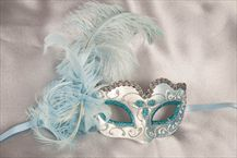 Feather Masks - Small Masquerade Masks for Kids - BABY PIUMA SILVER
