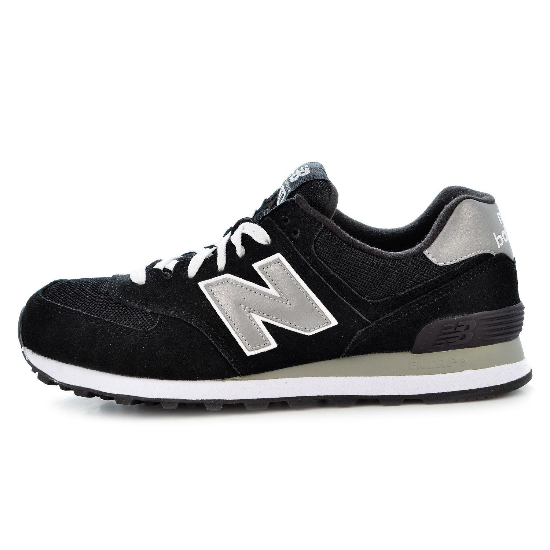 NEW Balance 574 Sneaker Scarpe Scarpe Da Corsa Running GREY BLACK SILVER m574nk