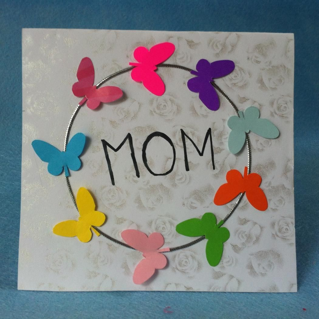 Diy butterfly mothers day card createsie mothers day