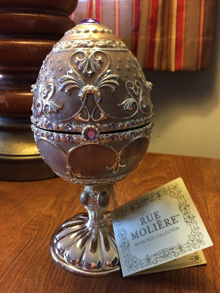 Details About Rue Moliere Egg Music Box Collection