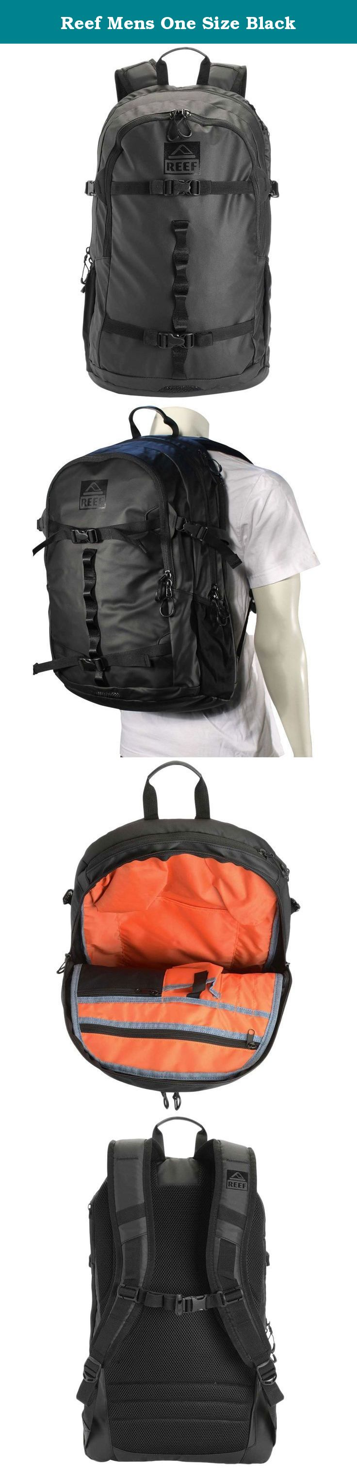 Reef Mens One Size Black Reef Diamond Tail Iii Pack Reef Shelter Supply Surf Backpack Pop Color Lining With Chambray Bin Surf Backpack Backpacks Laptop Pocket