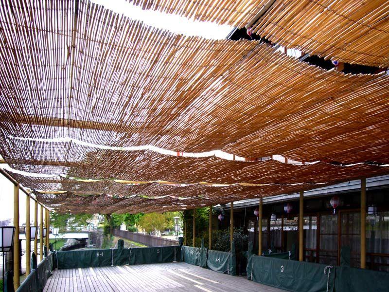 Woven Bamboo Rolled Fence Backyard Outdoor Bamboo Shades Pergola Pergola Shade