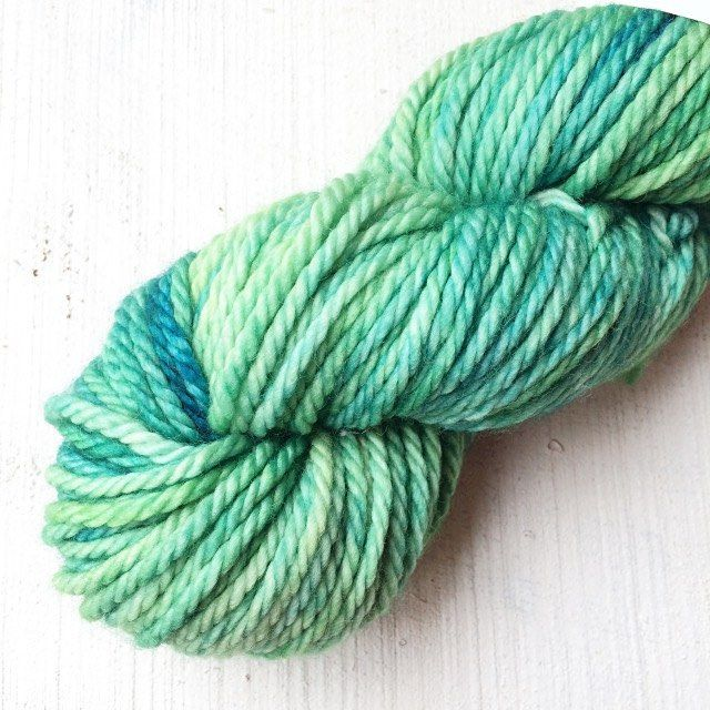 Brr it's cold and windy here today - I'm thinking of all the things I want to make before winter I think I need to grab some chunky yarn and knit quickly! I love this one sea greens on superwash merino.