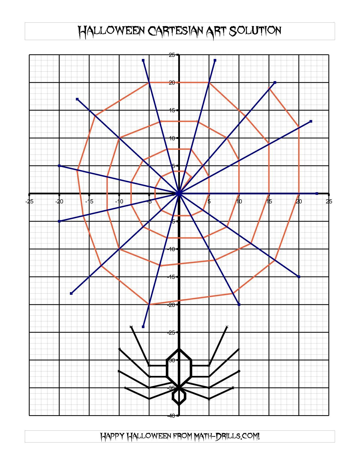 The Cartesian Art Halloween Spider Math Worksheet From The