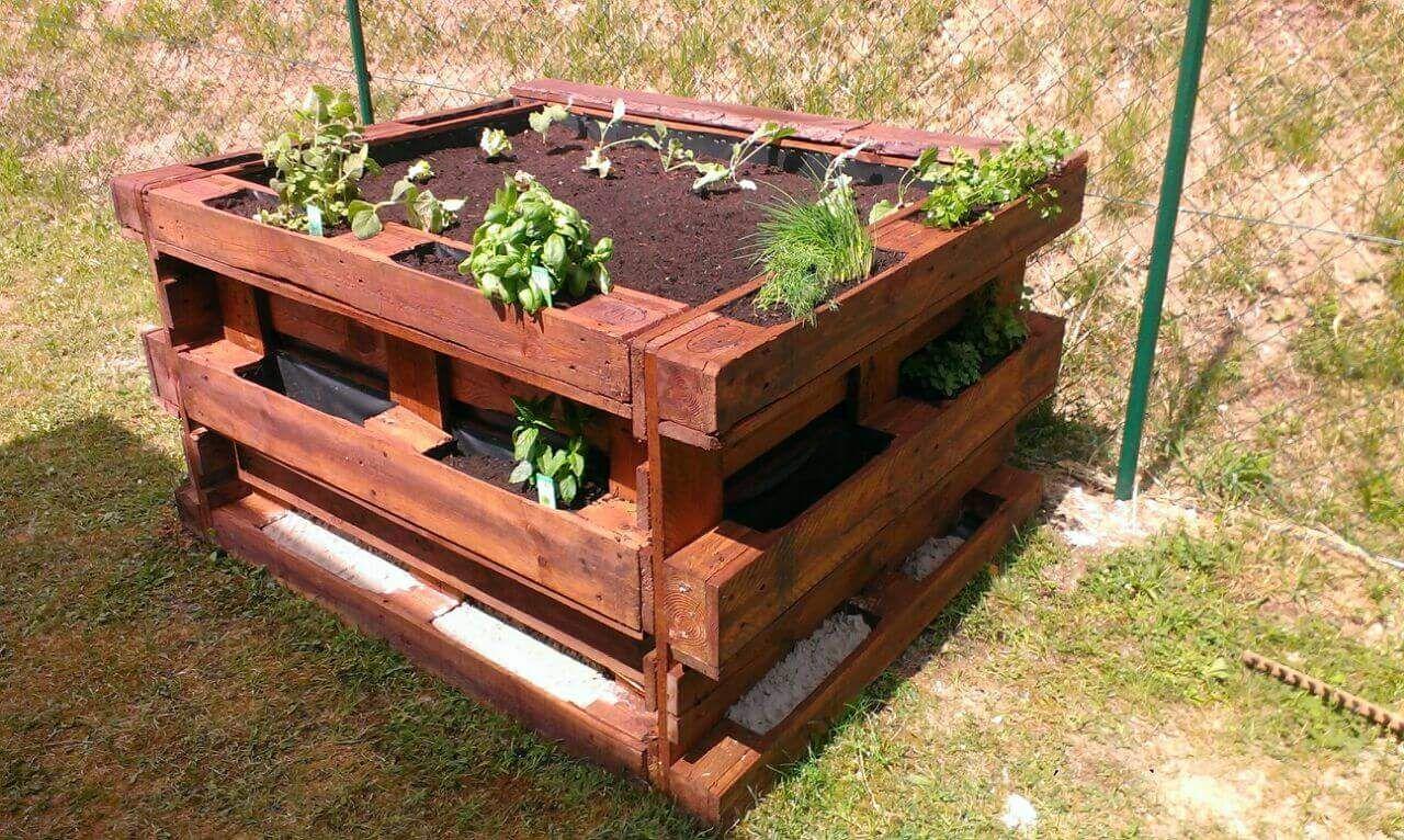 ᐅ Hochbeet Aus Europaletten Selber Bauen | Anleitung | Tipps ... Bio Komposter Aus Holz Selber Bauen Anleitung In Einfachen Schritten