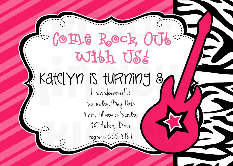 Rockstar Invitation Rockstar Party Rockstar Birthday Invitation ...