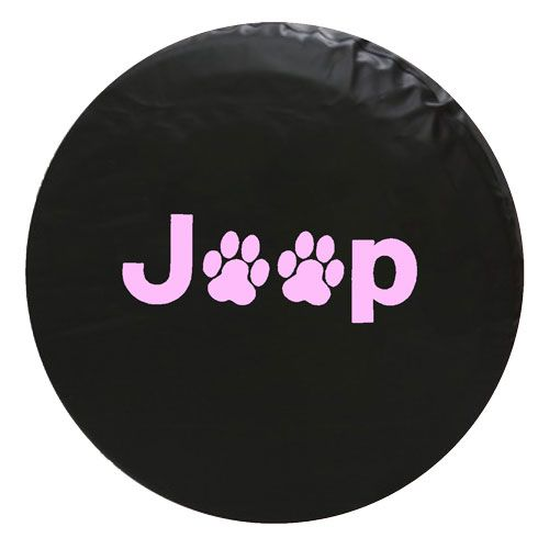 Jeep Animal Paw Print Vinyl Spare Tire Cover Tirecover Jeep