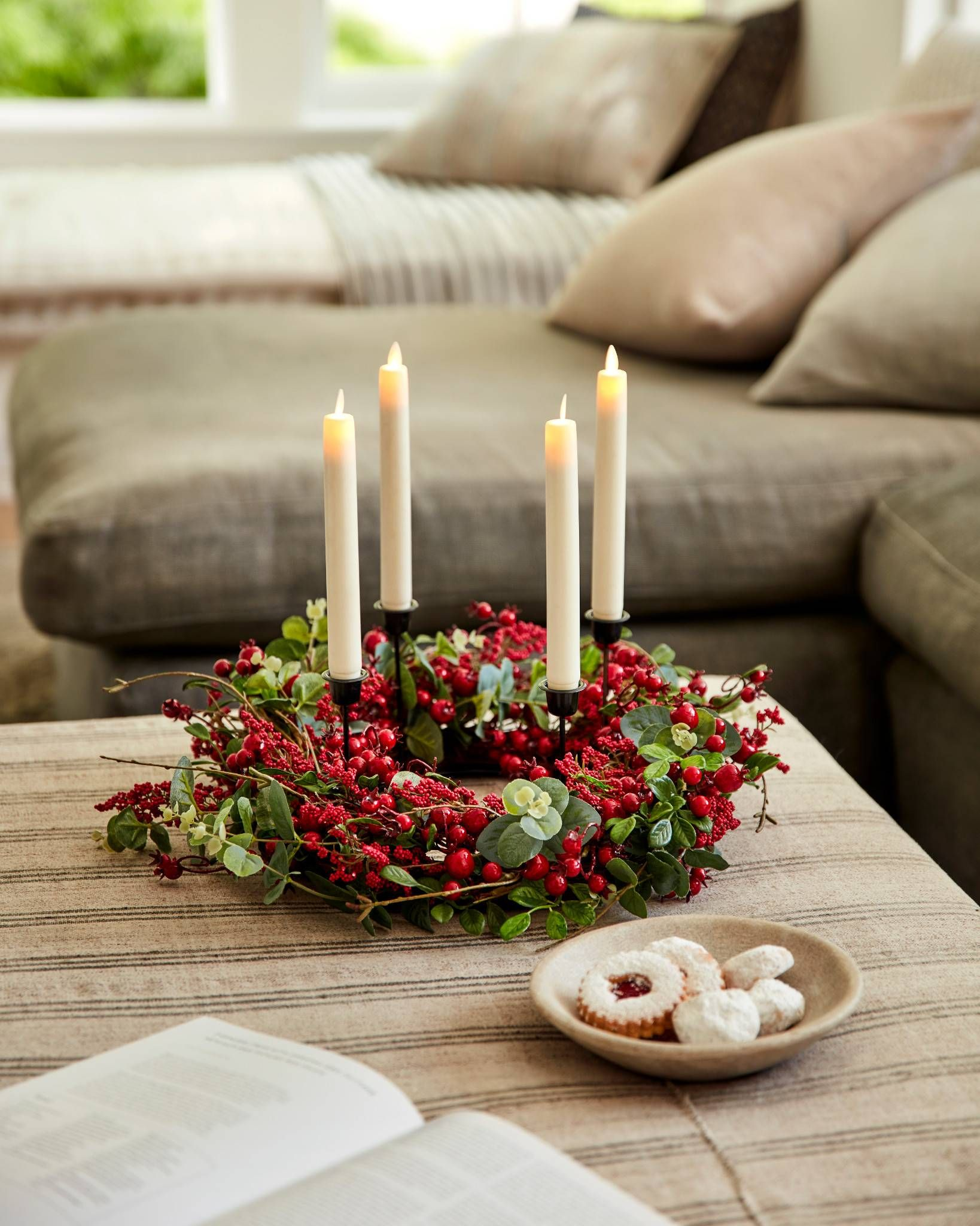 Mixed Berry Advent Wreath Balsam Hill UK in 2020
