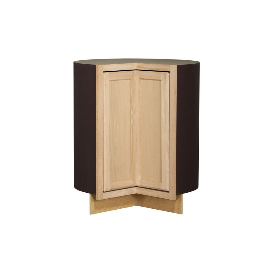 Project Source 36 In W X 35 In H X 23 75 In D Unfinished Lazy Susan Corner Base Cabinet Unfinished Kitchen Cabinets Stock Cabinets Unfinished Cabinets