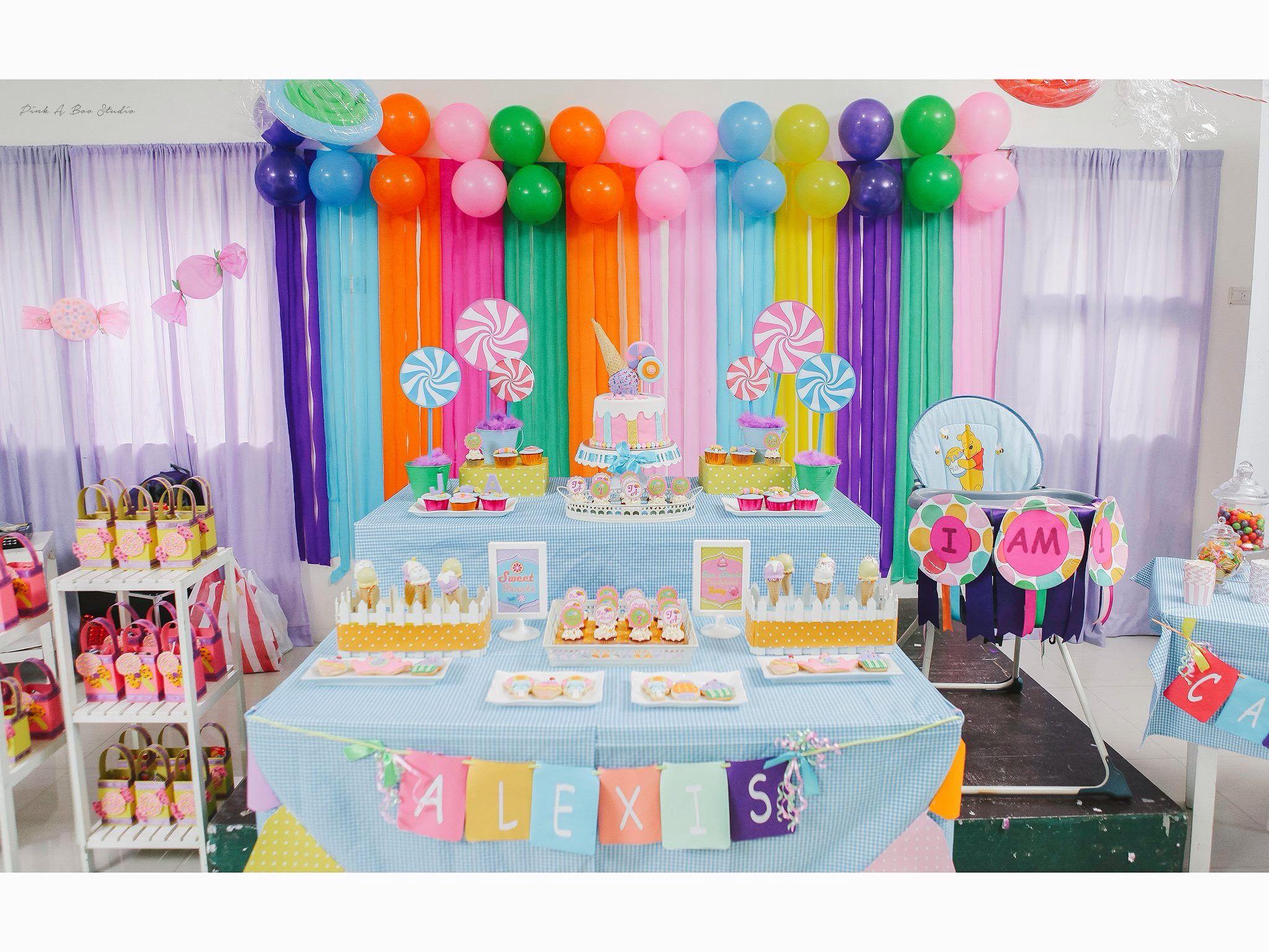 Candyland Themed Dessert Table Balloon Set Up Hazel Reyes Cake