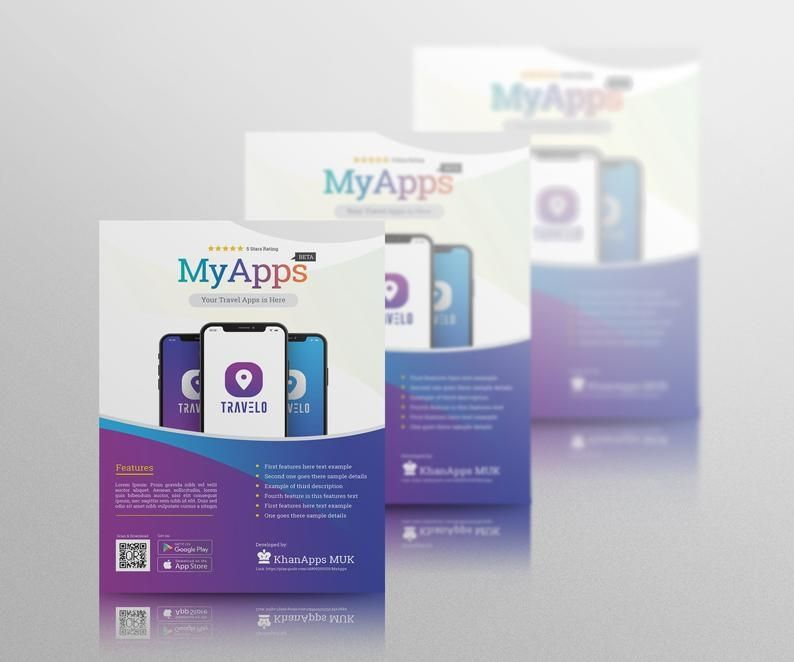 Flyer Templates App mobile apps promotion flyer flyer
