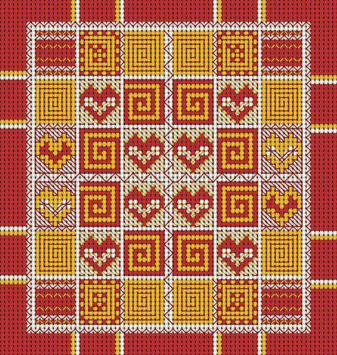 Вышивание крестиком, схемы для игольницы