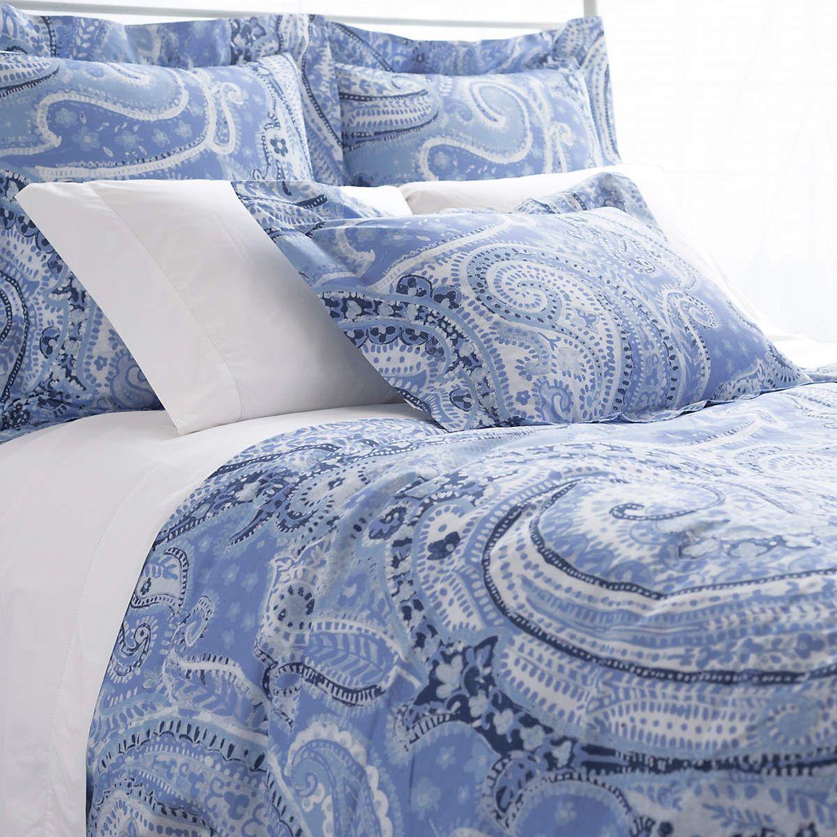 Lyric Paisley Blue Duvet Cover The Outlet Blue Paisley Bedding Blue Bedding Blue Duvet Cover