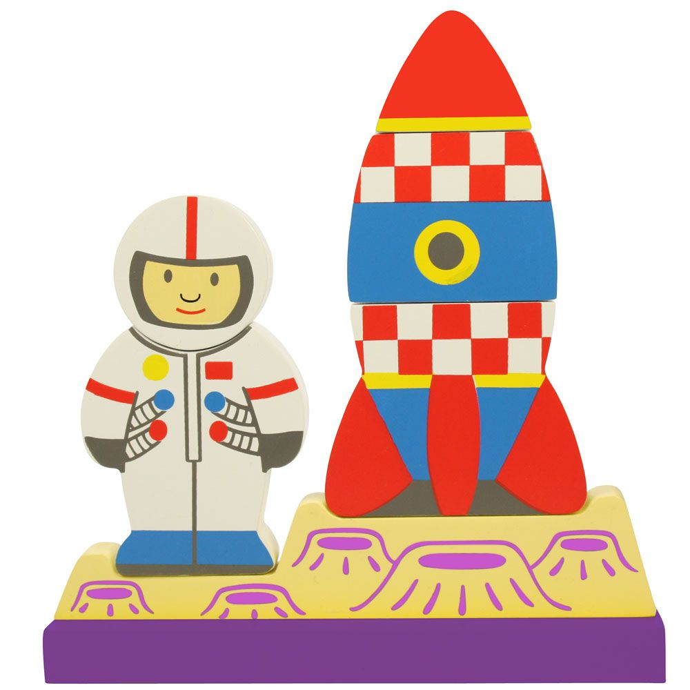 This lovely puzzle makes it simpler for little hands to match the pieces together. The colourful, chunky pieces fit together magnetically, helping youngsters to develop key coordination and dexterity skills, and the cool and funky space theme will delight children for hours.