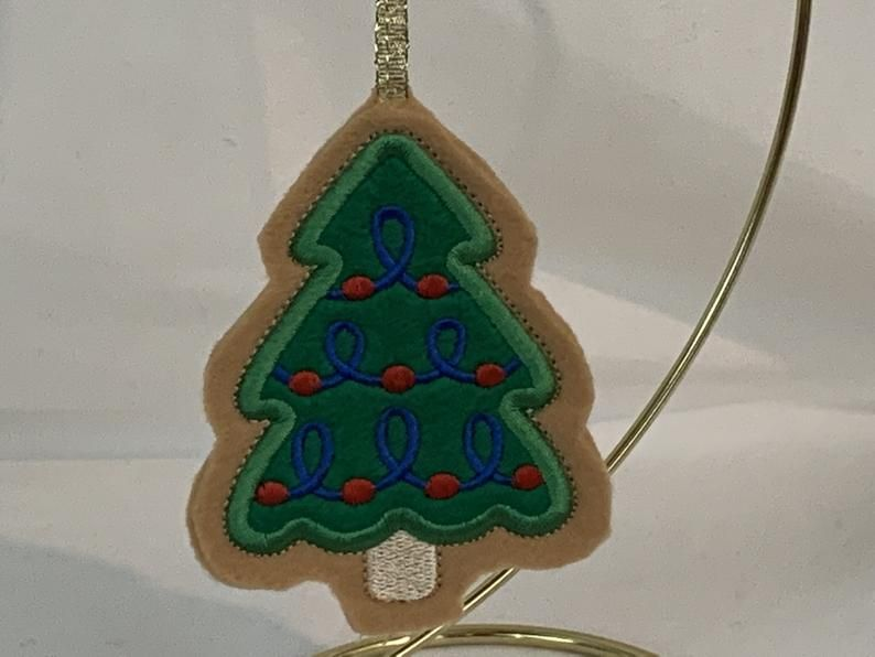 Christmas Tree Cookie Ornament-Felt-$7.50 -FREE SHIPPING ...