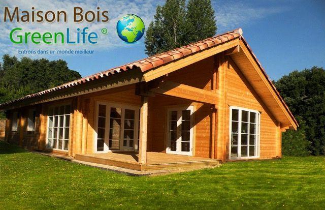 Kit Maison Bois Scandinave Greenlife Modele Louisa 114 Avec