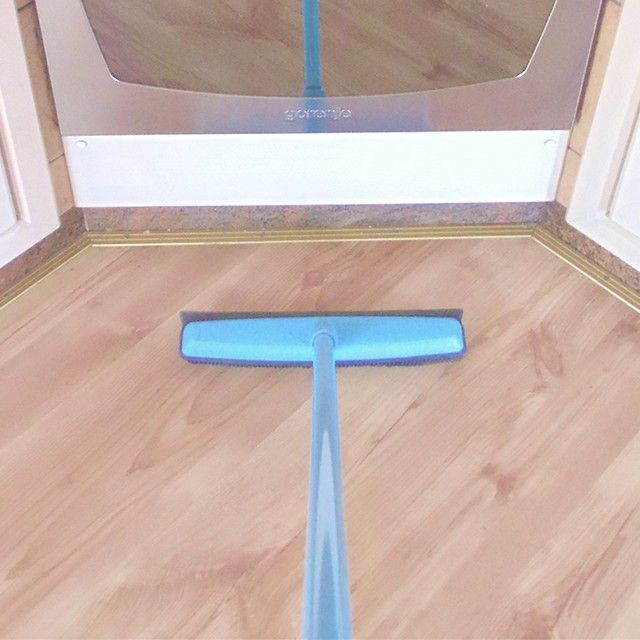 Tip Of The Week Try A Rubber Broom For Sweeping Your Floors It