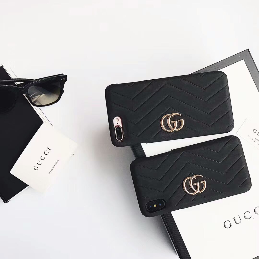 Gucci case for iphone 876plus black luxury iphone