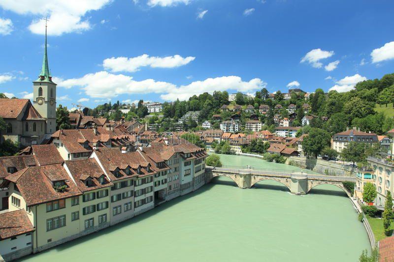 Bern. The river Aare flowing through Bern, Switzerland ,