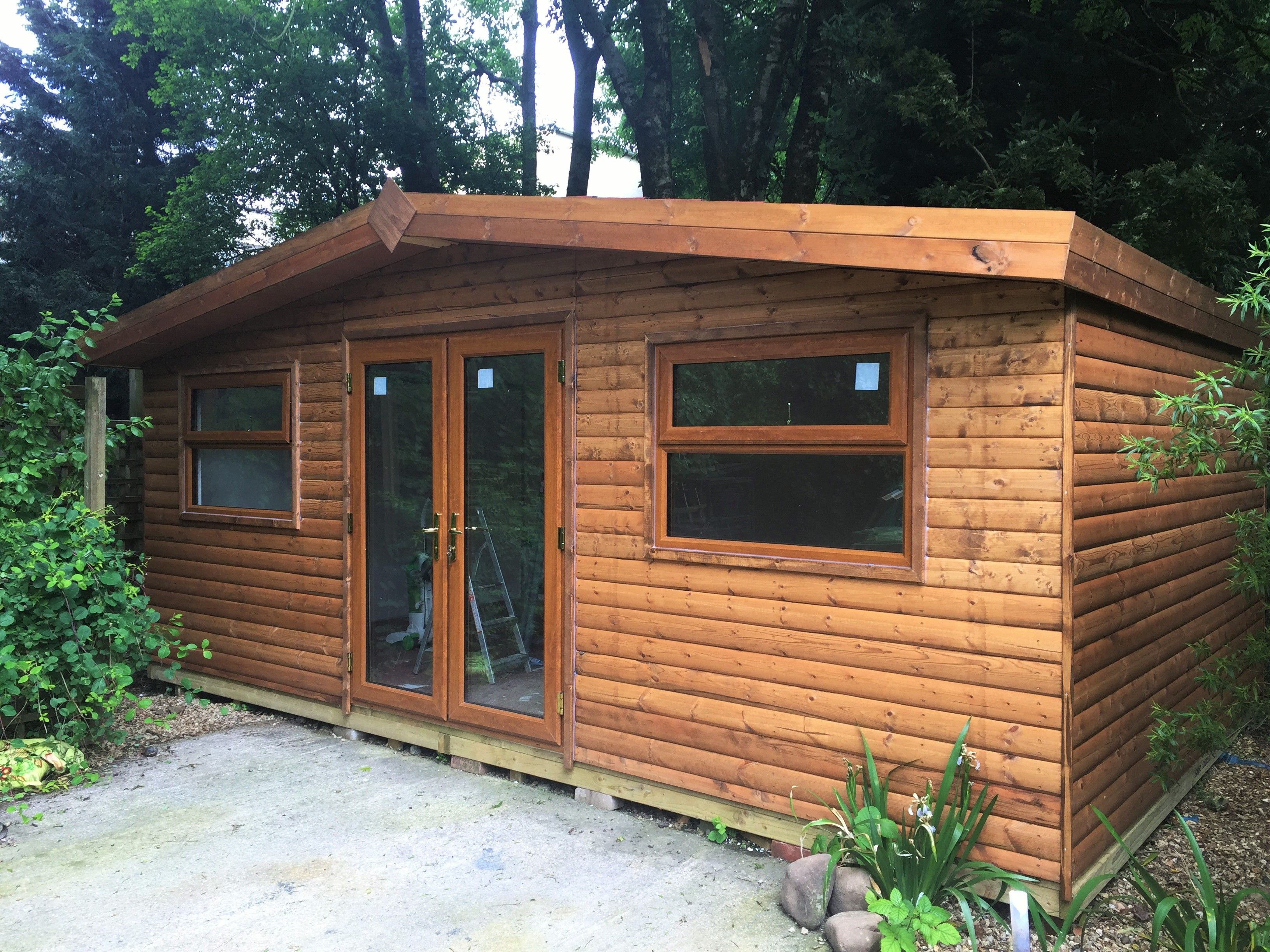 Garden Room, Log Lap made to order by Davies Timber Wales