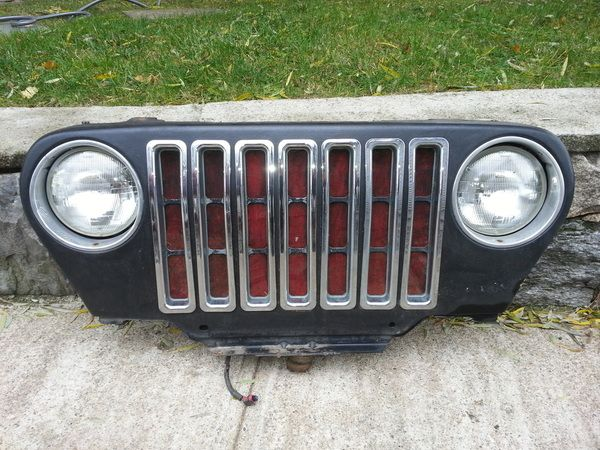 Front Grille Assembly Jeep Wrangler 97 06 Flat Black