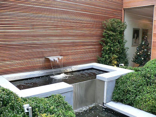 Large limestone water features google search water for Modern pond design