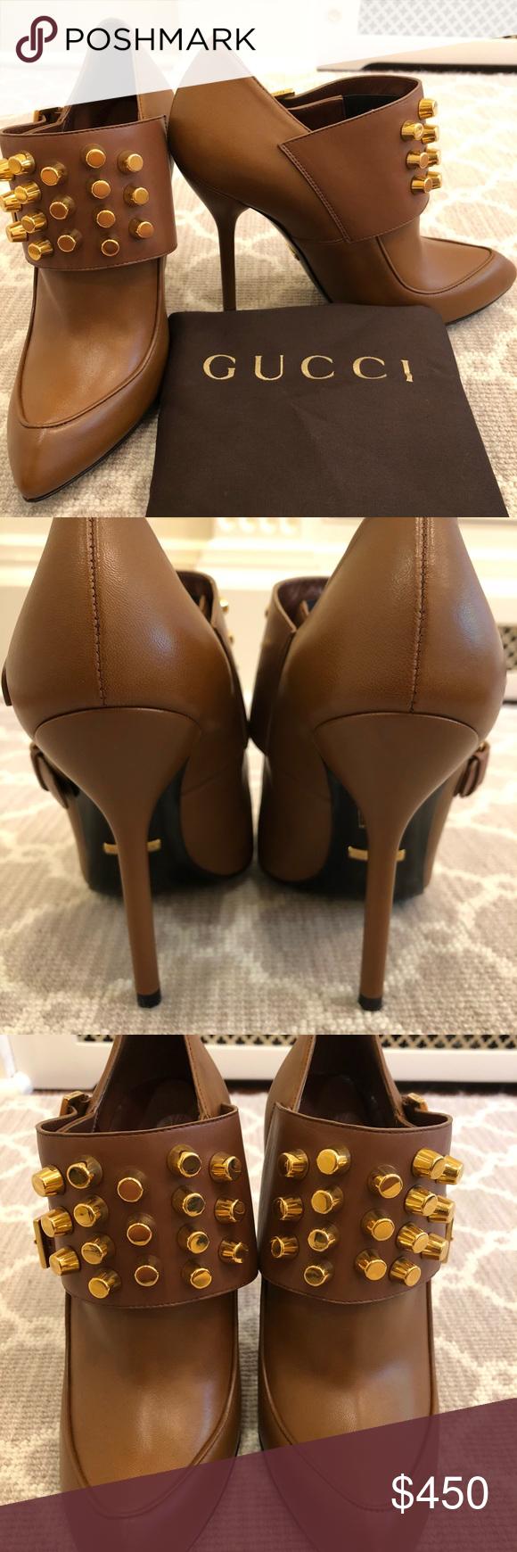 2ed12e51e Gucci Alexandra Nappa Charlotte Lifford Booties NEVER BEEN WORN Gucci  Alexandra booties in Cognac and original