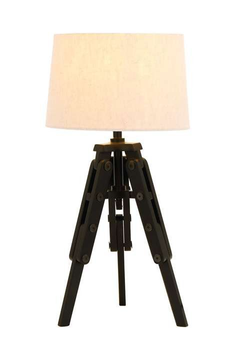Old World Table Lamp With Tripod From Nostalgic Silent Film Era