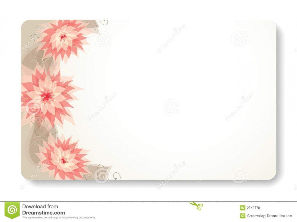 Visiting Card Flower Background Visiting Cards Card Design