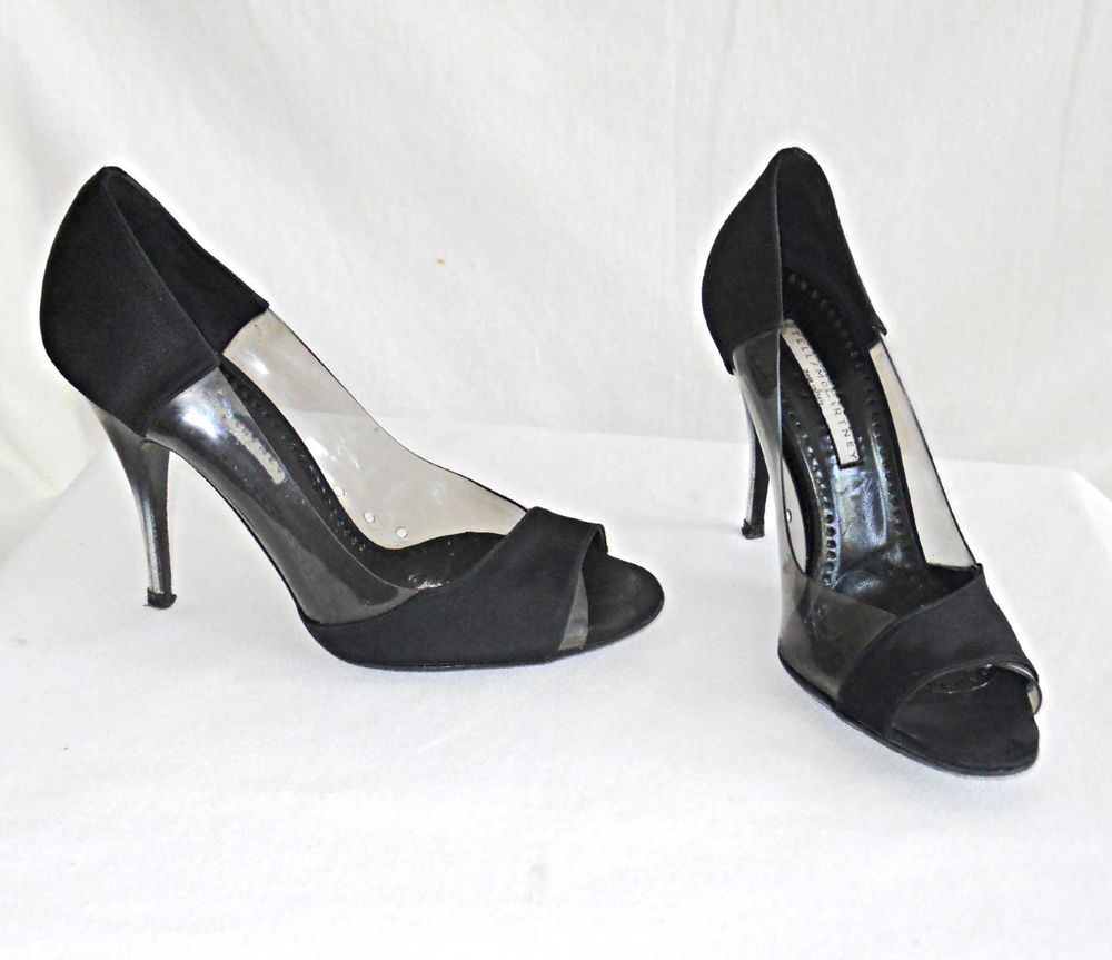 Stella McCartney Satin Peep-Toe Pumps sale 2014 newest shopping online original DcrqZ1fmX