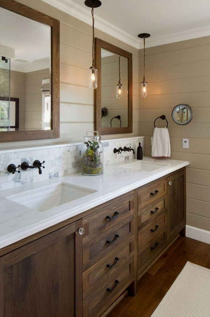 New Diy Bathroom Projects In 2020 Rustic Master Bathroom Bathroom Remodel Master Farmhouse Master Bathroom