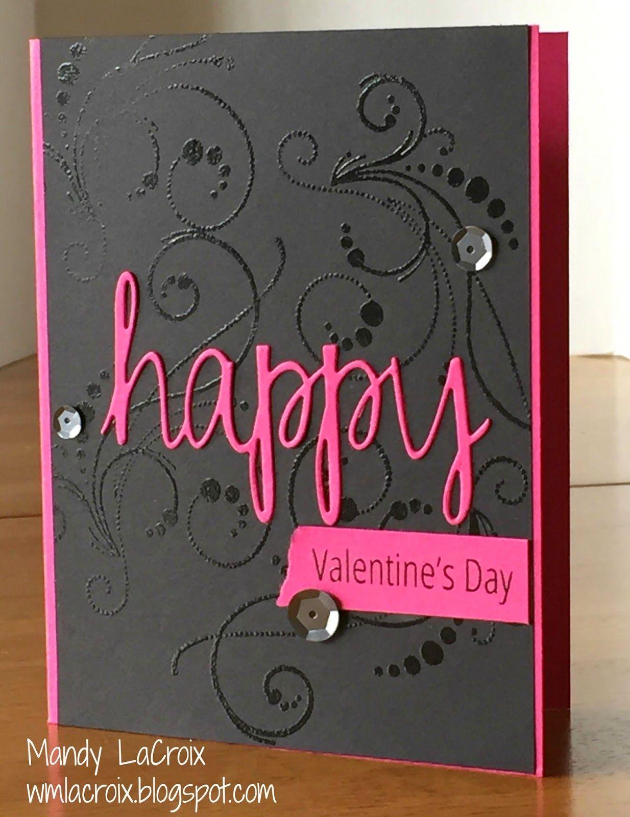 Handmade valentines card super sophisticated with a black handmade valentines card super sophisticated with a black panel embossed with tone on kristyandbryce Images