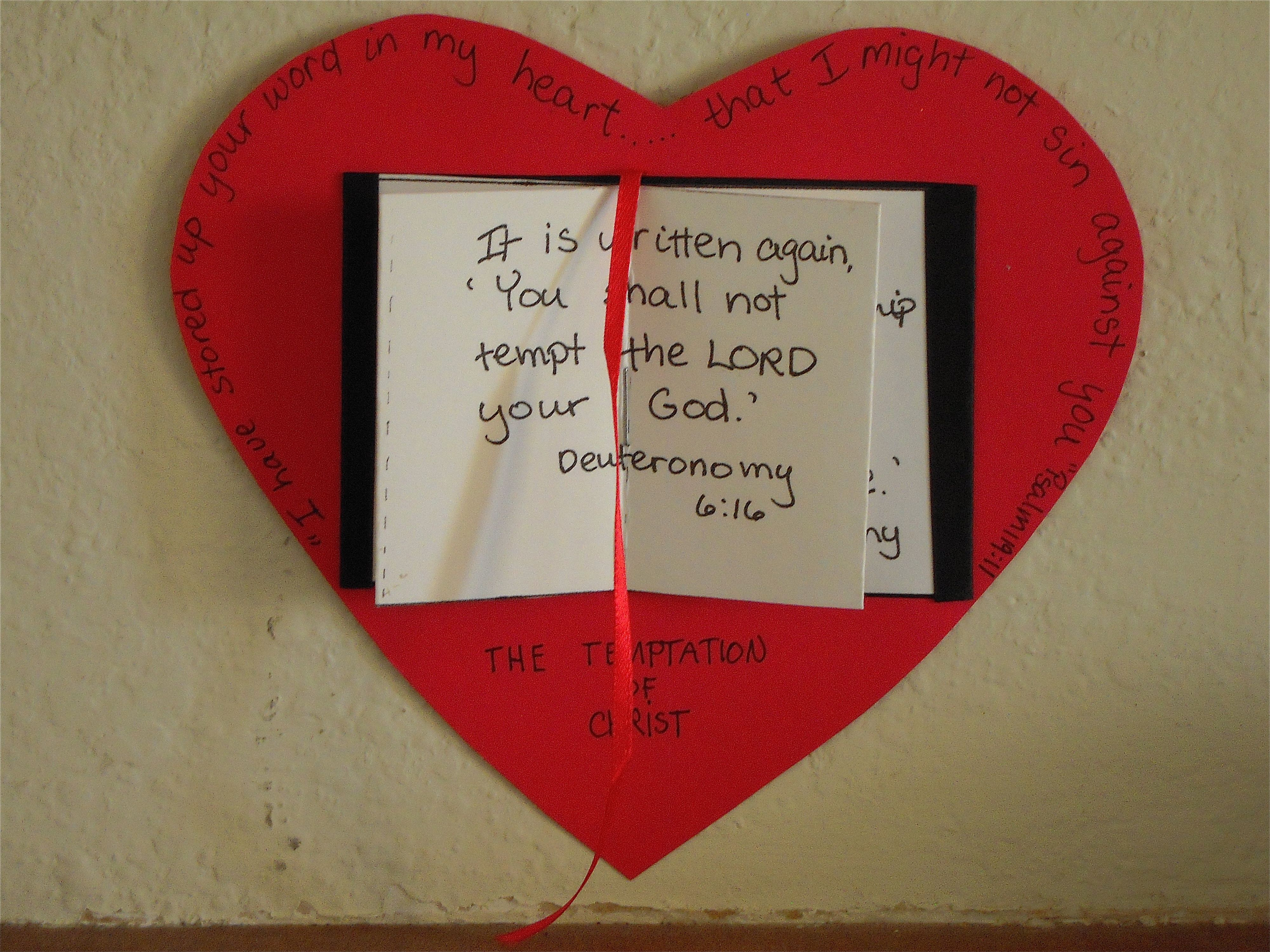 I Will Hide Your Word In My Heart Craft