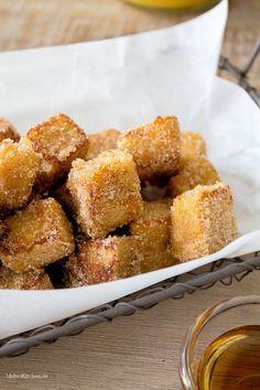 French Toast Würfel mit Zimt und Zucker