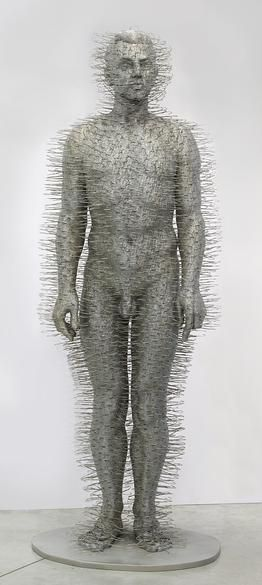 David Mach - made from dry cleaning hangers | Sculptures and