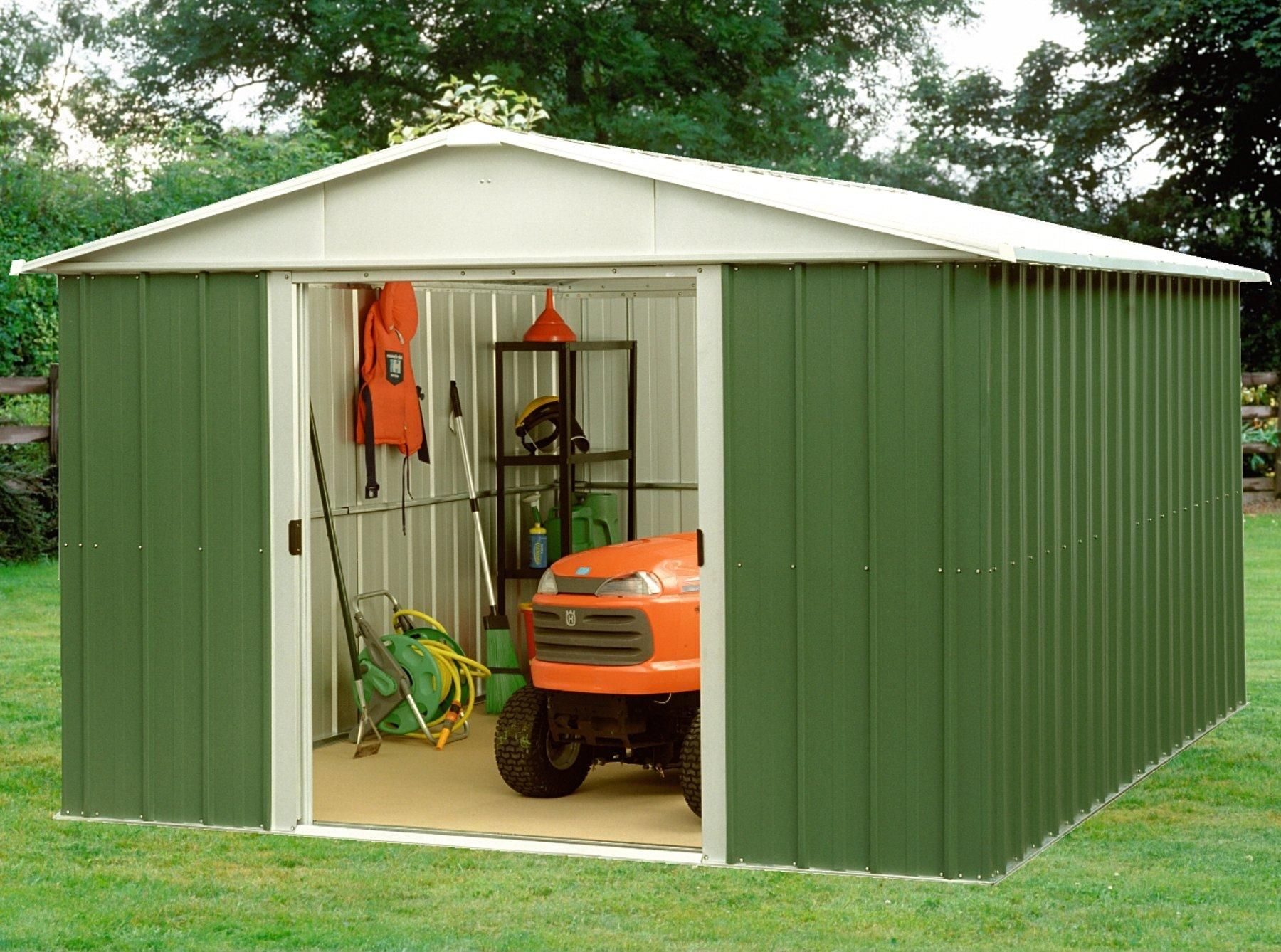 Yardmaster 9 4 X 9 4 Ft Apex Metal Roof Shed In Shed Apex Shed Metal Roof