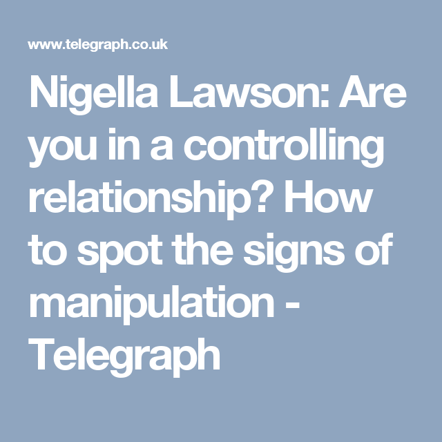 Are you in a controlling relationship