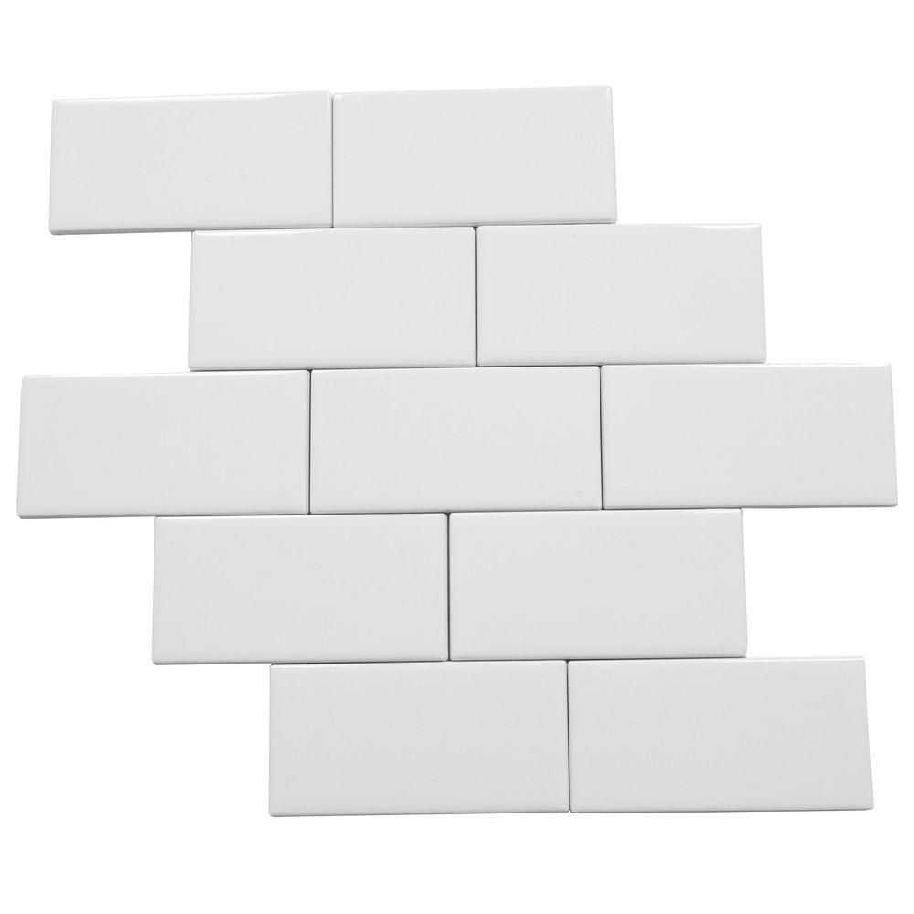 Daltile rittenhouse square arctic white 3 in x 6 in ceramic daltile rittenhouse square arctic white 3 in x 6 in ceramic modular wall tile 125 sq ft case dailygadgetfo Images
