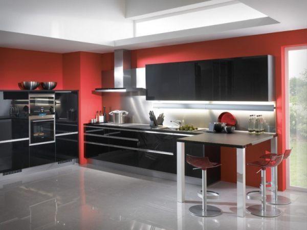 55 Modern Kitchen Design Ideas That Will Make Dining A Delight Modern Kitchen Design Black Kitchen Decor Red Kitchen