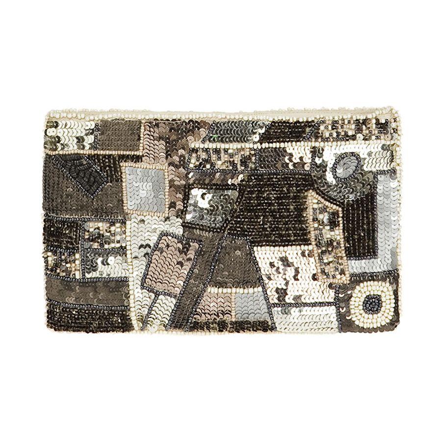 Zara Womens/Metallic Sequin Wallet