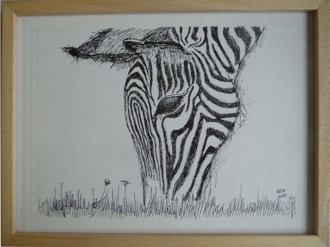 Caneta sobre papel com muldura (21x29,7) 65