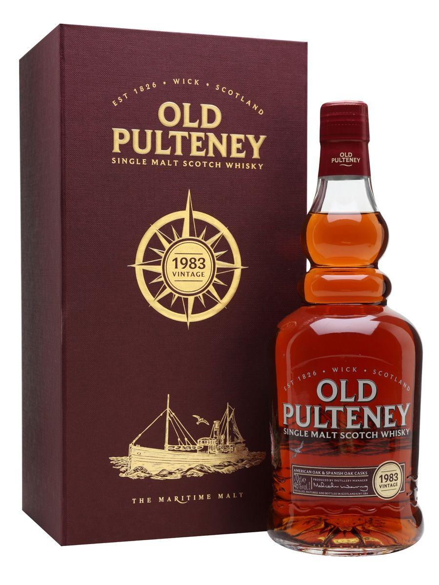 Old Pulteney 1983 33 Year Old Highlands Whisky Bottle Malt Whisky Alcoholic Drinks