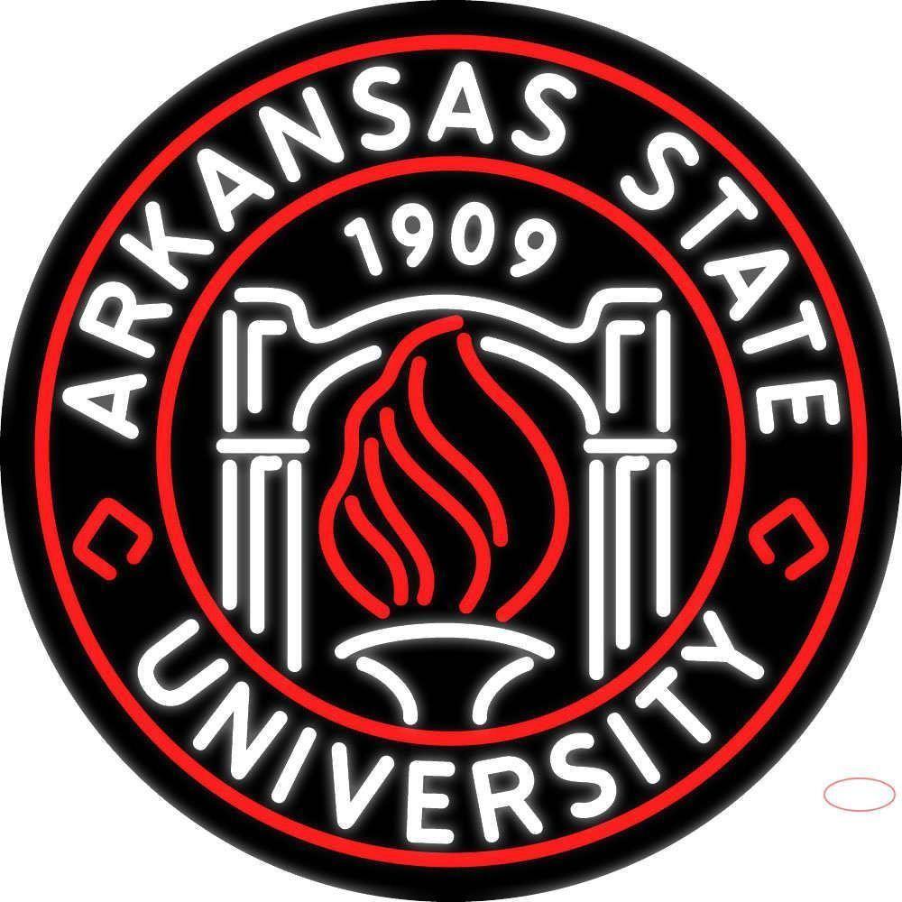 Arkansas state university handmade art neon sign in 2020